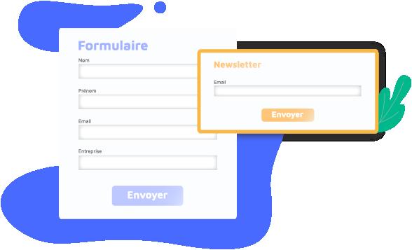 Ajoutez des formulaires sur votre site pour générer des contacts qualifiés.