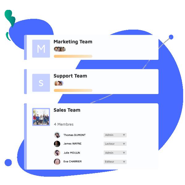 Boostez la collaboration dans votre entreprise avec les rôles et les équipes.