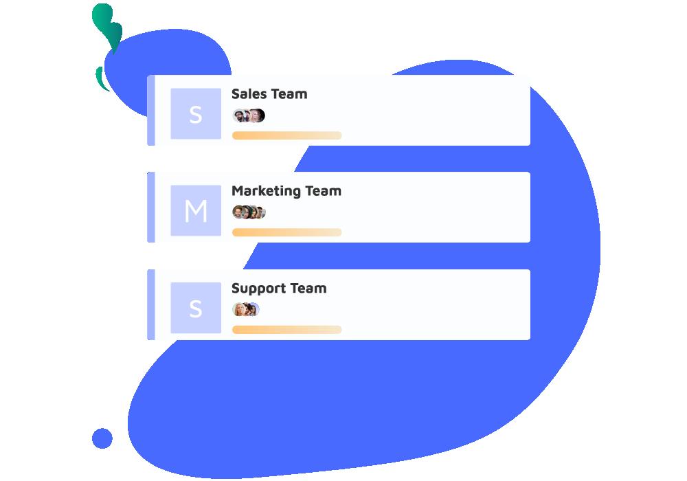 Créez vos équipes.